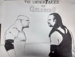 The Undertaker vs Goldberg by Hilmernavjim