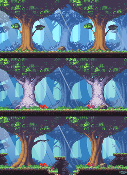 Metroidvania: Forest level by iSohei