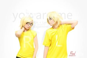 Kagamine Len and Rin cosplay by kuricurry
