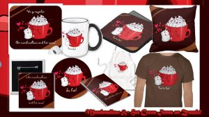 Marshmallow and Hot Cocoa Items on Zazzle by YamPuff