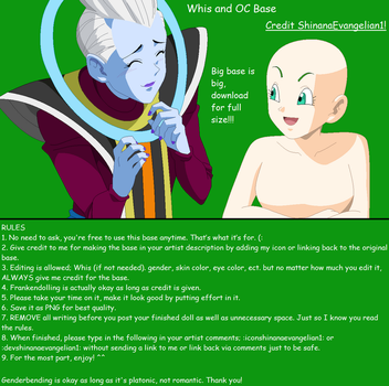 Whis and OC Base by ShinanaEvangelian1