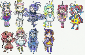Halloween Adoptable Batch 1 - [CLOSED] by Akira-Melody