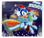 SonicxMLP: Happy Holidays by ss2sonic