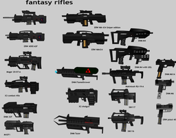 all my  made up rifles by notrace