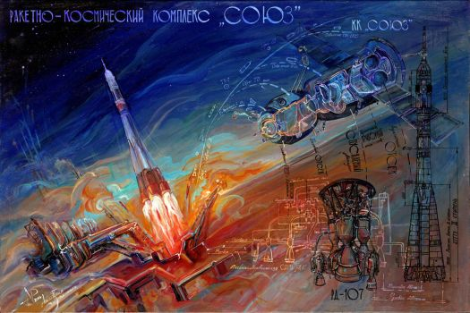 Expendable launch system Soyuz by Anestazy