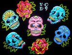 Sugar Skull Flash by Vicki-Death