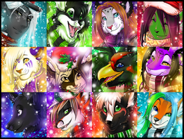 Winter Icon Comm - Batch 2 by Majime