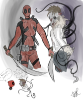 Deadpool and Neph by HarvesterofPearls