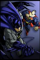 Joe Mad-Batman Superman by stikkmann