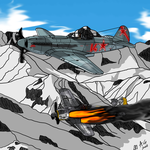 Mountain victory by AviatorGriffin