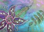 Purple bronze flower Lg by NellyTheBean