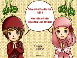 Happy Ied Mubarak 1434 H by quillshwammy