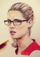 Felicity Smoak drawing by Katinkaw1
