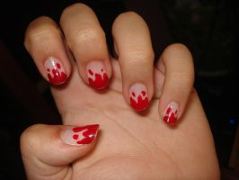Blood Nails by Camilicks