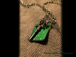 Key and Circuit Necklace by veykava