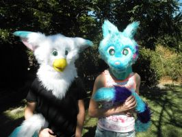 Grace and Bachi - Fursuit by Dragon--Girl