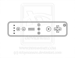 Vector: Wii controller lineart by rickymanson