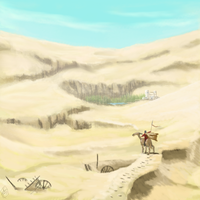 The Desert by Crowsrock