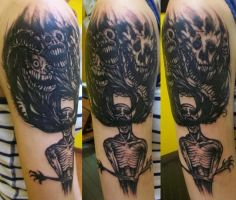 Crazy Drawing Tattoo by Dripe