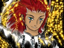 Axel surrounded by flames by La-gato-negro