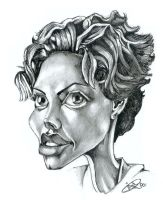 charlize theron caricature by Yohan-2014