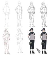Step by step: Uchiha Itachi by Johnny-Wolf