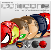 Comicons by Huroman