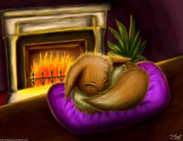Sleeping Eevee by Jedgesaurus