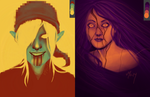 Color Scheme Memes: Sally and BEN by BleedingHeartworks