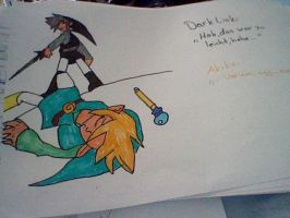 Akiko and Dark Link by TheHedgehogMaria