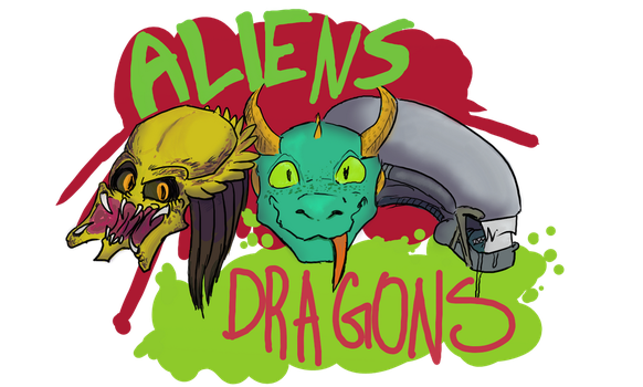 Aliens dragons group icon by Katicin