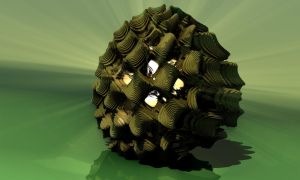 Pine cone lamp by Jaffa-Tealc