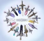 March Crystal Sword Charms - Ideationox by Ideationox