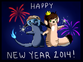 HAPPY NEW YEAR 2014! by InuKii