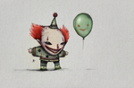 Clown and Balloon by rubr