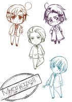APH Chibi Sketches by M-ariazell