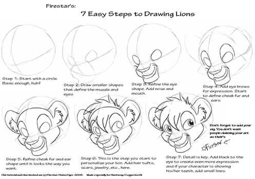 How To Draw Lion King Style