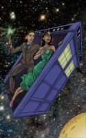 Doctor Who and a Red Head by artsox