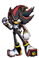 Sonic: Shadow Color Experiment by Lavenkitty