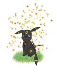 U is for Umbreon by StrawberrieMew