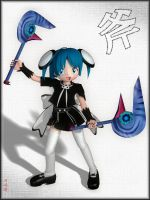 -Chibi Goth and Axe- by ken1171