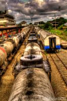 The Resting Trains by andriNASUTION