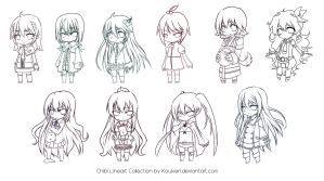 Chibi Lineart Collection by Kouken