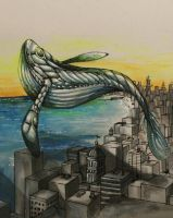 Whale over City by Solo-Aniles