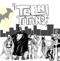 TEEN TITANS_comic promo by kittycakez