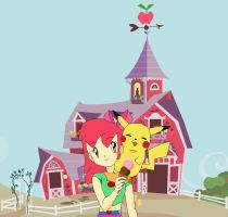 pokemon trainer Apple Bloom. by sonazelover1234