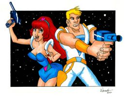 Space Ace and Kimberly by Fellhauer