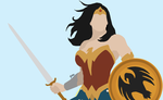 Wonder Woman Minimalist by GuardianOfTheNight2