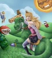 Super Peach World by RazzellDazzell