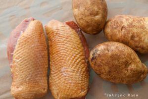 Duck breast and potatoes by patchow
